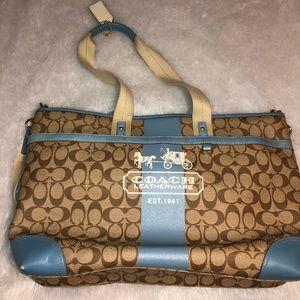 Coach 1941 Vintage Large # M0773 -11763 blue bag